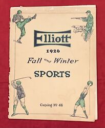 Antique 1926 Rs Elliott Fall And Winter Sports Equipment Catalog W Football Early