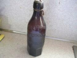 L Werrbach Pure Weiss Beer Milwaukee Wis Blob Beer Bottle A G W L Glass Co Wi