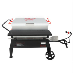150 Qt. Double Sack Crawfish Boiler Outdoor Stove Propane Gas Grill Cooker In Bl