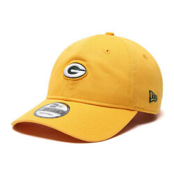 Nfl Newera Green Bay Packers Unstructured Adjustable Baseball Cap Hat Yellow
