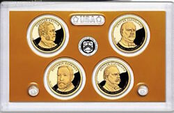 2012 S Presidential Dollars Proof 4 Coin Set Gold No Box Mint Cleveland Harrison