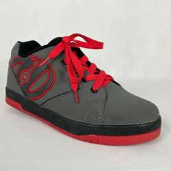 Heely's Propel Mens Size 7 Grey Black Red Skate Lace Up Sneakers