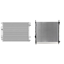 A/c Condenser And Radiator Kit For 2015-2016 Ford Mustang