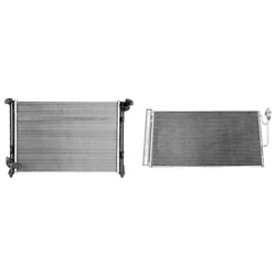 Radiator And A/c Condenser Kit For 2007-2008 Mini Cooper