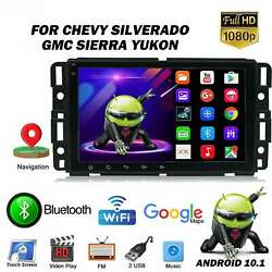 For Gmc Chevrolet Chevy Sierra Android 10.1 8and039and039 Car Stereo Radio Gps Navigation