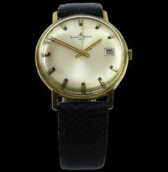 Baume And Mercier Vintage Date 14k Yellow Gold 35 Mm 33 Gramand039s Rare +