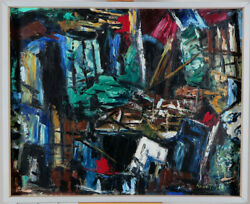 Ross Robertshaw 1919-1979 Canadian 1960's Expressionist Abstract Oil/canvas