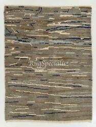 Contemporary Tulu Rug In Gray, Blue And Brown Colors