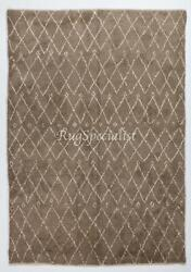 Contemporary Moroccan Rug In Natural Latte And Ivory Colors