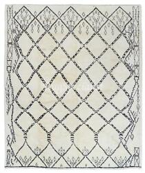 Contemporary Moroccan Rug, 100 Natural Undyed Wool