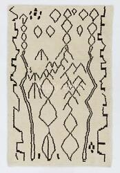 Contemporary Moroccan Rug, 100 Natural Undyed Wool. Custom Options Available