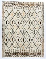 Large Contemporary Moroccan Rug, 100 Wool. Custom Options Available