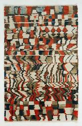 Contemporary Wool Rug With Soft Thick Pile And Abstract Design