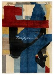 Contemporary Hand Knotted Rug, 100 Soft, Velvety Wool, Custom Options