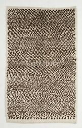 Contemporary Tulu Rug, 100 Natural Un-dyed Wool. Cream And Brown