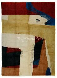Abstract Modern Hand Knotted Rug, 100 Wool, Custom Options Available