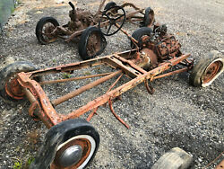 Model A Ford Hot Rod Chassis W/flathead V8f1 Steering59ab 39 Transmission