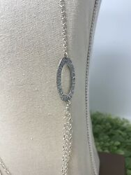 Silpada Hammered Sterling Triple Strand Oval Link N1720 32 Necklace New In Box