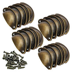 20pcs Set Antique Cupboard Door Cabinet Cup Drawer Pull Shell Handle Wm