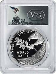 2020 End Of World War Ii 75th Anniversary Silver Medal Pr70dcam Pcgs