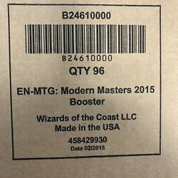 Magic Mtg Modern Masters 2015 Booster Box Case Factory Sealed English 4x Boxes