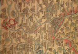 Postcard::Oxburgh Hall Norfolk Tapestry Map of Oxfordshire and Berkshire