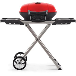 Travelq Portable Propane Gas Grill With Cast Iron Grates, Bonus Griddle And Easy