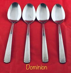 4 Wallace Brandware Dominion Place Oval Soup Spoons Heavy Duty Stainless Retired