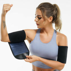 Pair Sauna Sweat Arm Shaper Bands For Women Arm Trimmers Trainer Wrap Sleeves Us