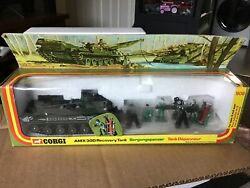 Vintage Corgi C908 Amx 30d Recovery Tank French Military Vehicle Die Cast Model