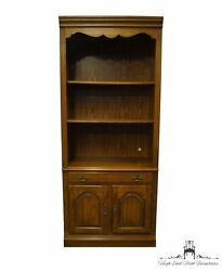 Bernhardt Furniture Oak Rustic Country French 33 Open Bookcase / Wall Unit 2...