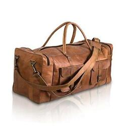Kpl Large Duffel Bags For Men Holdall Leather Travel Bag Overnight Gym 32 Inch