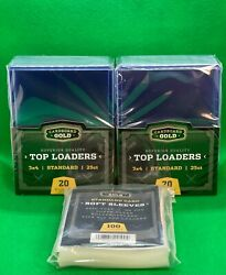 Cardboard Gold Top Loaders 3x4 Toploaders And Soft Sleeves Cbg 25 50 100 200 500