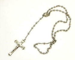Sterling Rosary Crucifix Vintage Chapel Silver Crystal Silver Bead Vatican