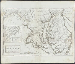 Carey - Map Of The State Of Maryland. 35, 1796 General Atlas Folio Engraving