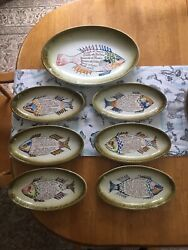 Fish Plate Set Made In Italy Jarm