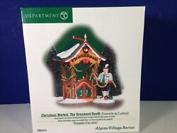 Dept 56 Alpine Village Christmas Market The Ornament Booth 804441 New And Rare