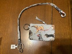 Vera Bradley Nwt Zip Id Case And Lanyard Best In Show Puppy Dog Limited Edition 🐶