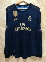 Real Madrid 2019-20 Sergio Ramos Ucl Player Issue Climachill Away Jersey Size M