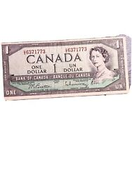1954 - Canada 1 Bank Note - Bank Of Canadian One Dollar Bill