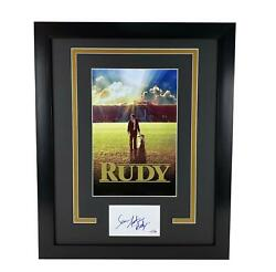 Rudy Sean Astin Autographed Signed 16x20 Framed Poster Photo Football Acoa
