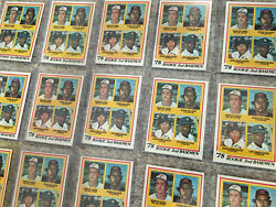 Lou Whitaker Rookie Lot 24 Topps 1978 Detroit Tigers Rc Baseball Cards