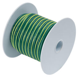 109350 Ancor Green With Yellow Stripe 10 Awg Tinned Copper Wire 500'