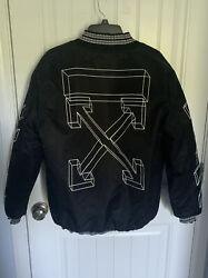 100 Authentic High Quality Off White Bomber Jacket New With No Tags.