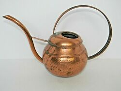 Vintage Copper Watering Can Art Deco Design 8.5 Tall X 12 Wide