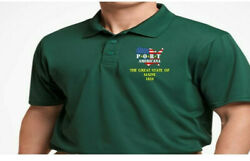 Great State Of Maine Port Americana Embroidered Polo Shirt/sweat/jacket.