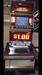 Ballys Vintage Video Poker Machine. Takes Dollar Tokens. Stand/base Is Included.