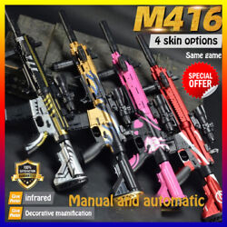 Water Toy Gun M416 Electric Shock Wave Bullets Gift Boys Kids Auto Oneness Rifle