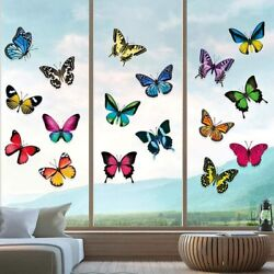 20 Pcs Butterfly Wall Removable Stickers Decals Art Window Clings Anti collision