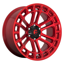 20 Inch Candy Red Wheels Rims Ford F150 Truck 6x135 Lug Fuel Offroad D719 20x10